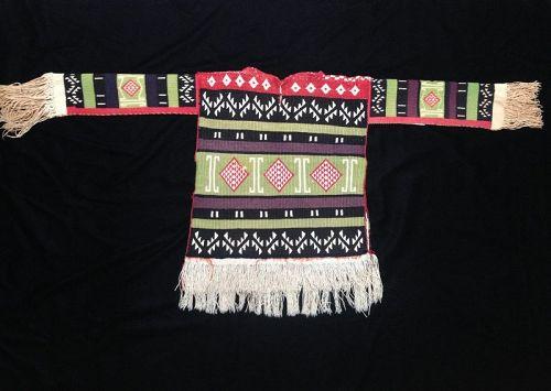 A Rare Pueblo Man's Embroidered Cotton Shirt Hopi