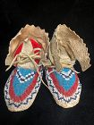 Sioux Beaded Hide Child's Moccasins