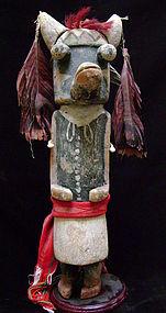 Hopi Polychrome Wood Kachina Depicting Wiharu