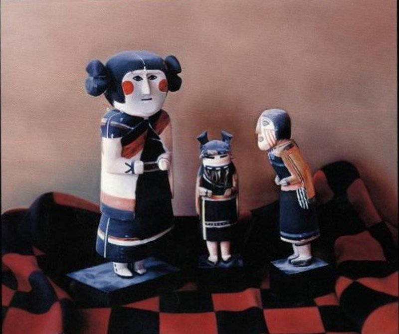 """Wendy Meng """"Meeting of the Manas"""" Oil on Canvas"""
