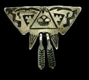 Hopi Pin With Original Open Clasp c. 1920-1930