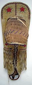 Paiute Beaded Full Size Baby Carrier c. 1900