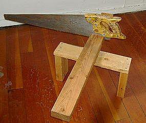 "Alan Kessler ""Saw and Wood"" Oil on Wood"