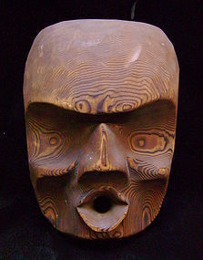 "Kwakwaka'wakw ""Cannibal Woman"" Cedar Mask by Ellen Neel"