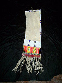 Mandan Hide Beaded Tobacco Bag
