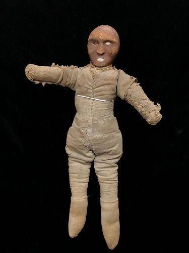 """Rare Eskimo Wood Shamen's Doll c.1860-80"""