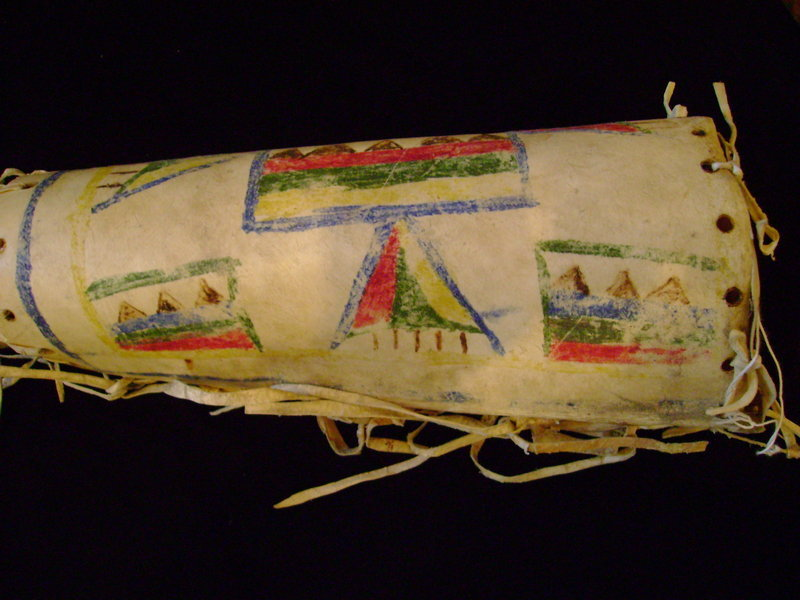 Blackfoot Parfleche Cylinder c. 1890