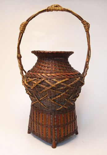 �20%off�Old Japanese Bamboo Basket