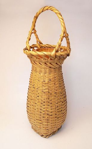 Japanese Bamboo Basket by Suzuki Gengensai