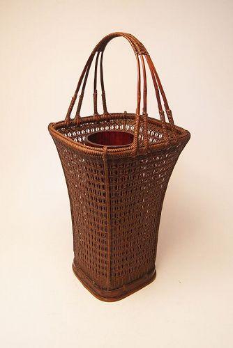 Japanese Bamboo Basket by Tanabe Chikuunsai �