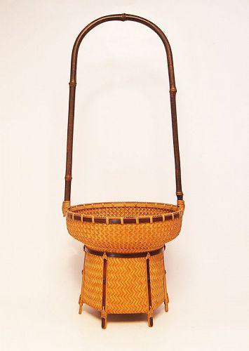 Japanese Bamboo Basket by Kosuge Kogetsu