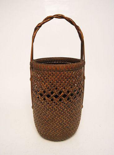 Japanese Bamboo Basket by Katsushiro Soho, National Living Treasure