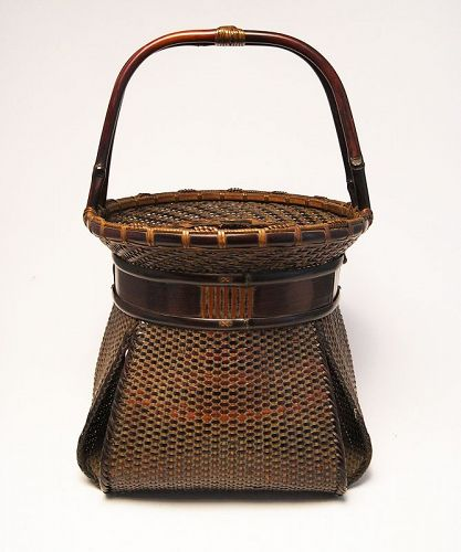 Japanese bamboo basket by Sansai