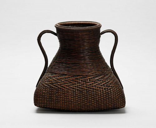 Japanese old hanging bamboo basket, anonymous