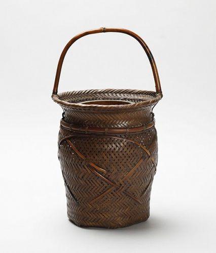 Japanese bamboo basket by Chikuyu