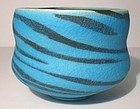 Persian Blue Vellum Stacked Stone Teabowl 1118tb