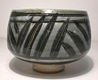 Ao Glazed Brushwork & Incised Grasses Teabowl (1119tb)