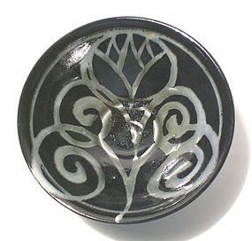 Porcelain Ao Glazed Bloesem Open teabowl (1122tb)