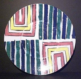 Medium Majolica Striped Plate