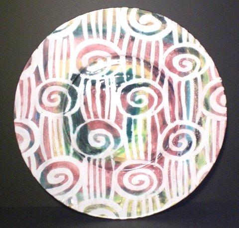 Medium Majolica Spirali e Tagli Plate