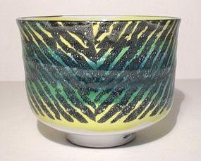 Majolica Alternating Rain Patterned Teabowl