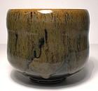 Temmoku & Partridge Feather Glazed Teabowl (1128tb)