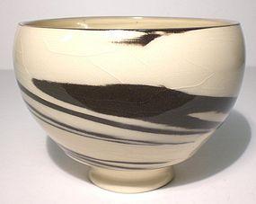 Ido-gata Suminagashi Style neriage teabowl (1144tb)