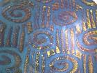 Lg Temmoku & Medieval Green Spirali e Tagli Wall Bowl