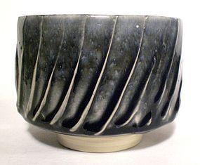 AO COG FLUTED SLIP TEABOWL (1163tb)