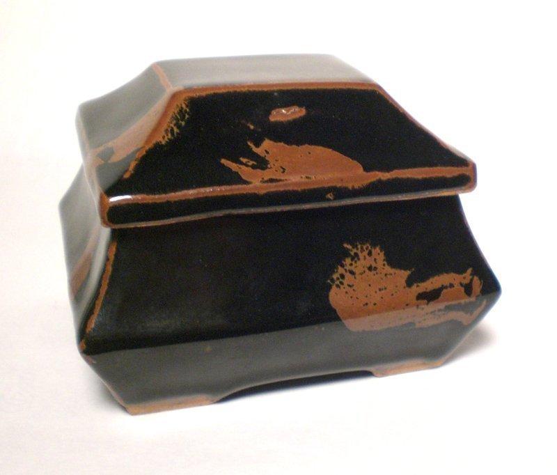 MASHIKO TEMMOKU & TESSHA COVERED BOX BY SAKUMA KENJI