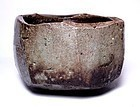 LARGE YAKISHIME WOOD FIRED CHAWAN BY KONNO HARUO