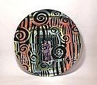 Abstrakt Spiral & Slashes Plate