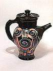 Abstrakt Spirals & Slashes Tall Teapot