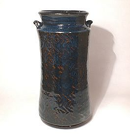 Ameyu Vase with Cobalt Lattice Pattern