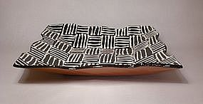 Black & White Woven Slipware Tray