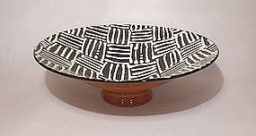 Black & White Woven Pattern V-Bowl