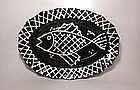 Black & White Slipware Fish Tray