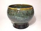 Temmoku & Ash Hakeme teabowl