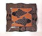 Tebori Carved terra Cotta Lg. Fish Tray
