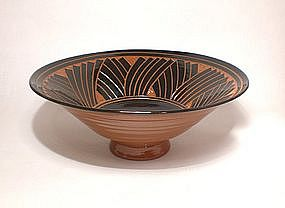 Terra Cotta Tebori Grass pattern Serving Bowl