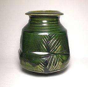 Oribe Paddled Stoneware Henko Jar