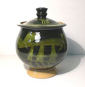 "Rozome Style ""MU"" Nothingness Covered Jar"
