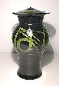 Rozome Hiragana  Decorated Cap Jar