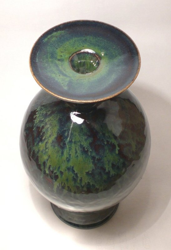 Ameyu And Copper Saucer Vase