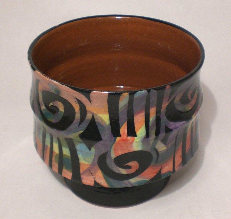 Abstrakt Resist Patterned Bamboo Node Teabowl