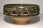 Ao Glazed Pierced Serving Bowl