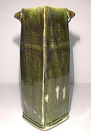 Medieval Green Squared Kushime Vase