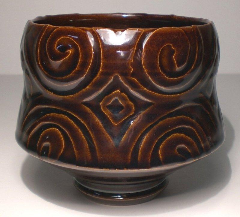 Ameyu Etched Spirali Teabowl