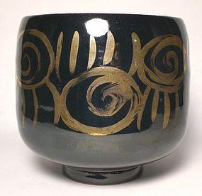 Temmoku Kokin Tabi-Chawan; Spirali e tagli
