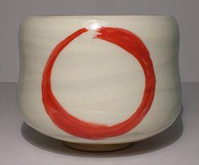 Zen Style Aka-e Enso Chawan